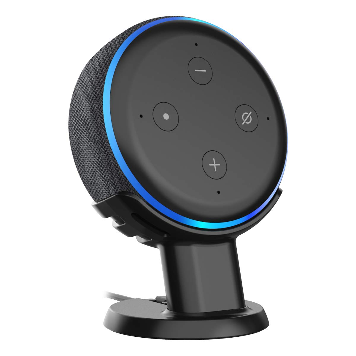 Amazom Echo dot Table Pedestal Mount Holder Stand for Echo dot 3rd Gen, A Cleaner Tidier Appearance Solution Desk Mount Stand and Improves Sound Visibility and Appearance for Echo dot 3rd Gen-Black by Cozycase