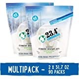 23.4° Life's perfect balance Dishwasher Detergent Pack, Powdered, Unscented, 2 Units, 90Count