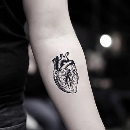 Tatuaje Temporal de Corazón anatómico (2 Piezas) - www.ohmytat.com ...