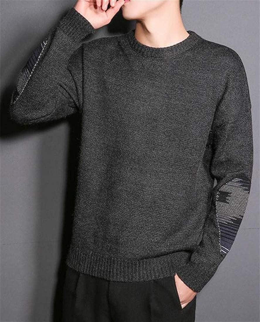 Etecredpow Mens Jumper Knitwear Autumn Winter Pullover Long Sleeve Crewneck Sweater