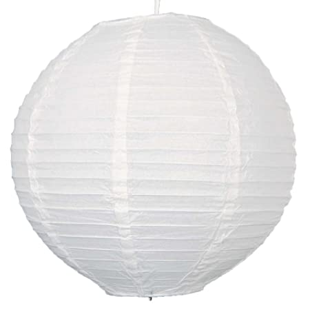 Nuolux 16 inch 406 cm white round chinese paper lantern nuolux 16 inch 406nbspcm white round chinese paper lantern lampshades aloadofball Gallery