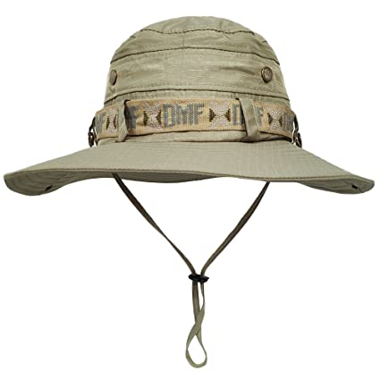 Amazon.com   LETHMIK Waterproof Fishing Sun Boonie Hat d41f43ce815