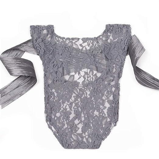 dec5f163fad Amazon.com  ISOCUTE Newborn Baby Photography Props Girl Bodysuit ...