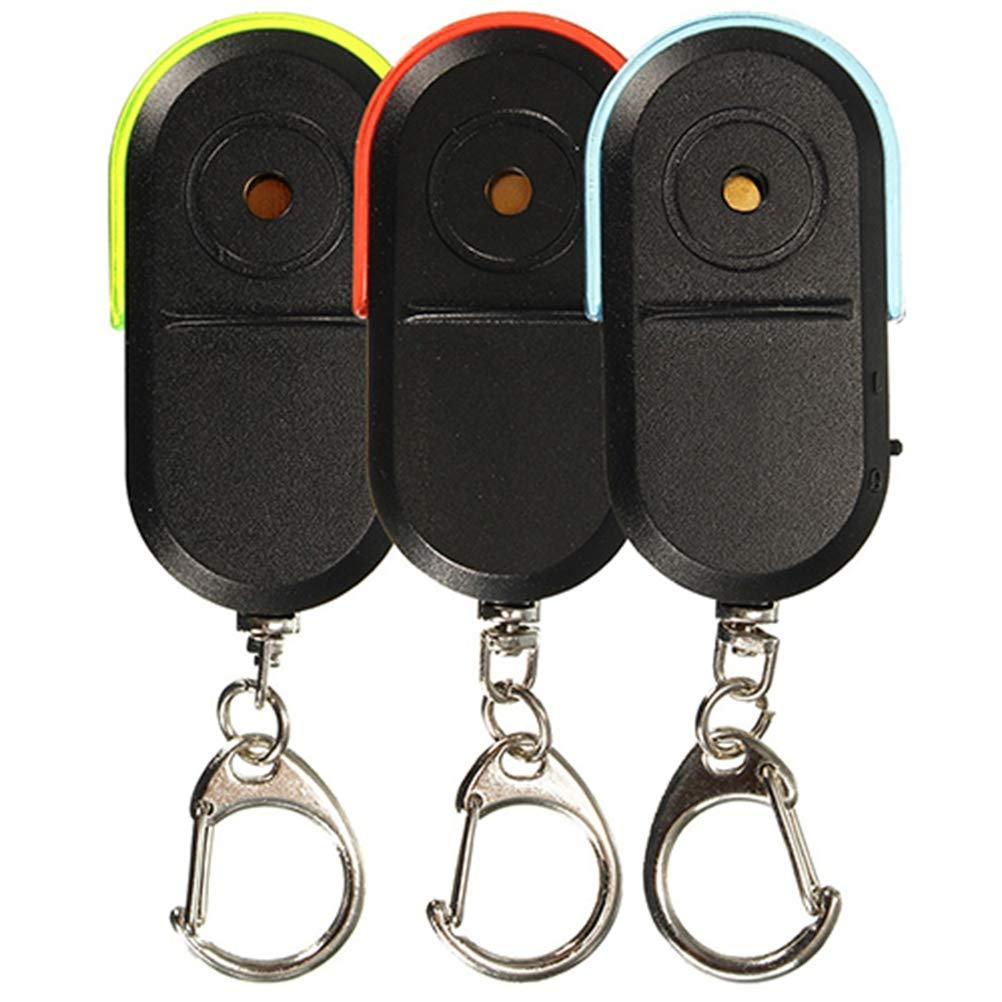 Yamalans Wireless Anti-Lost Alarm Key Finder locator Whistle Sound LED Light Keychain