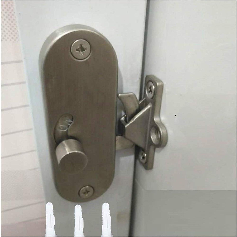 pestillo de puerta corrediza de acero inoxidable Hebilla negra Perno de cerradura de puerta de seguridad para cercas de madera Puertas de metal Cerradura de puerta de /ángulo recto de 90 grados