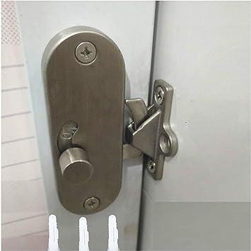 Cerradura de puerta corredera, cerradura de puerta corredera y bloqueo de perno de pestillo, cerradura de leva de 90 grados para puerta de movimiento con hebilla de ángulo recto, cierre de privacidad: