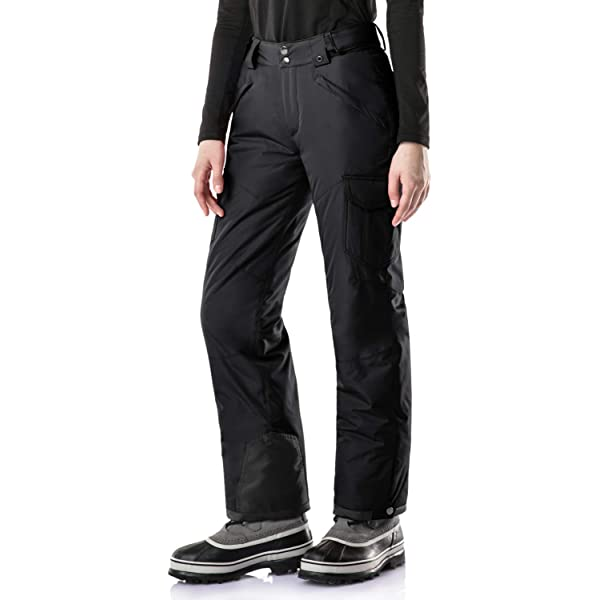 TSLA Mens Winter Snow Pants Waterproof Insulated Ski Pants Ripstop Windproof Snowboard Bottoms