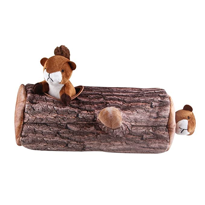 IFOYO Hide and Seek Dog Toy Bear Slipper Nest Squeaky Dog Toy Plush Dog puzzle toy Interactive Dog Brain Game