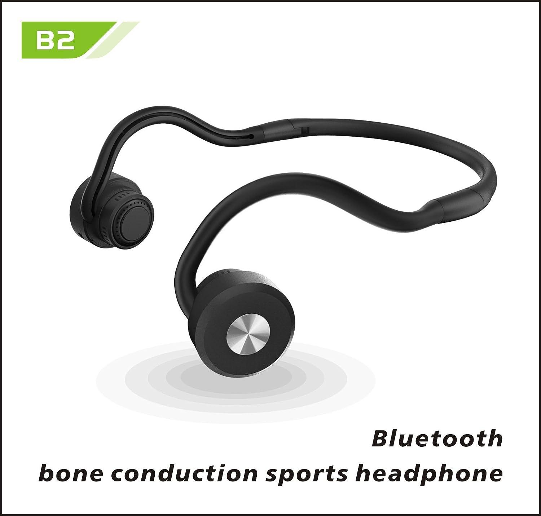 Auriculares inalámbricos Bluetooth auriculares de conduccion osea apto para deporte ejercicio corriendo gimnasio con microfono incorporado Sweatproof