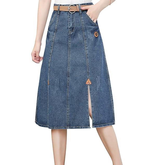 quality design facde 84a5f NiSengs Donna Estate A-Line Vita Alta Chic Gonna Jeans al ...