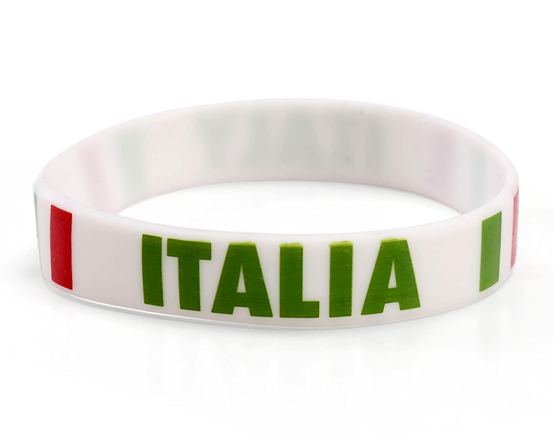 Komonee Italien Weiß Weltmeisterschaft Olympia-Silikon-Armbänder (50er Pack) B00ZID1C9M B00ZID1C9M B00ZID1C9M Schweibnder Explosive gute Güter 40ef7a