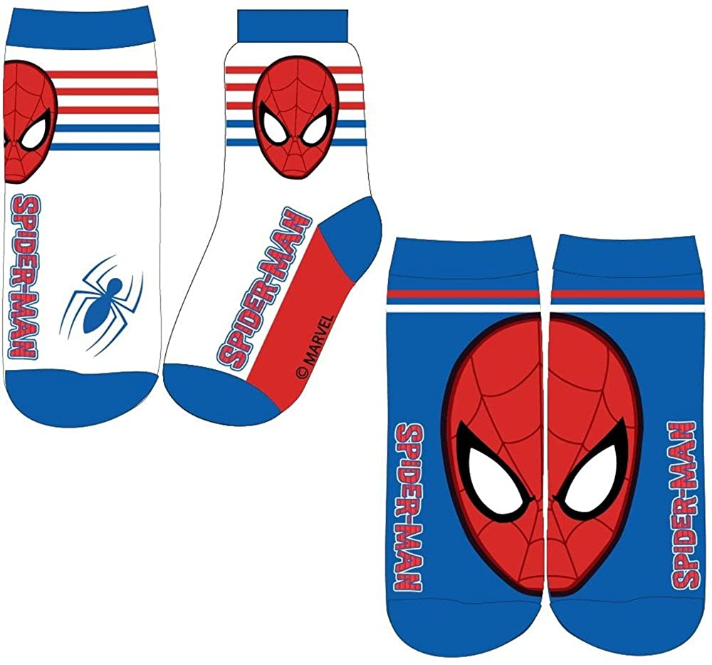 Boys Spiderman Socks - Design 3 - Pack of 2