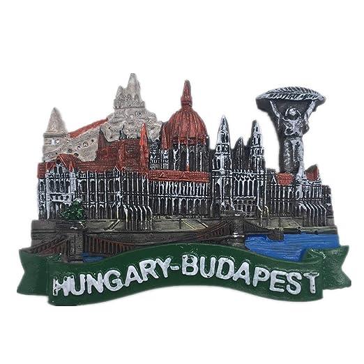 Budapest - Imán de resina para nevera, diseño de Hungría 3D, ideal ...
