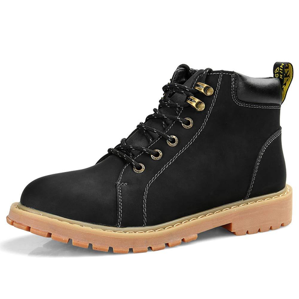 WDYY Winter Herrenschuhe Stiefel Hoch, Um Britische Outdoor schwarz Tooling Schuhe Zu Helfen schwarz Outdoor 26d3d0