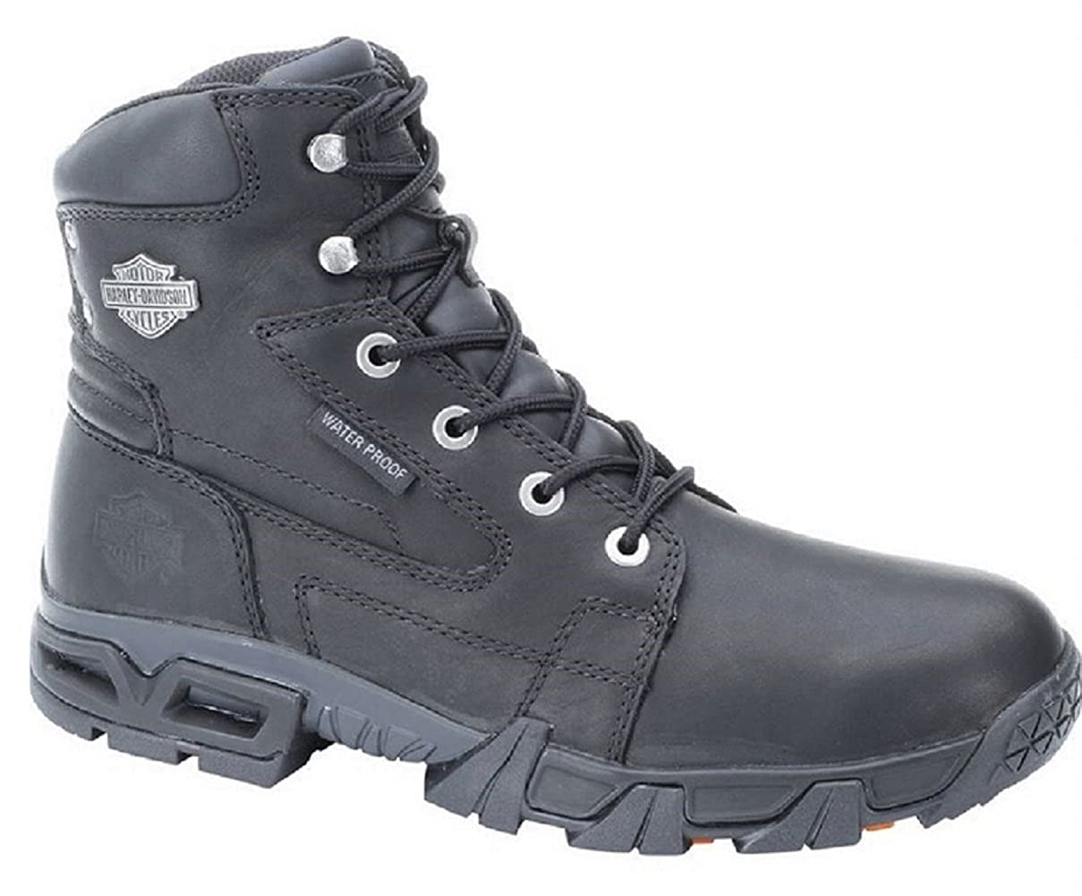 Harley-Davidson Men's Andy Waterproof 5.5-Inch Black Lace Boots. D96066 Wolverine