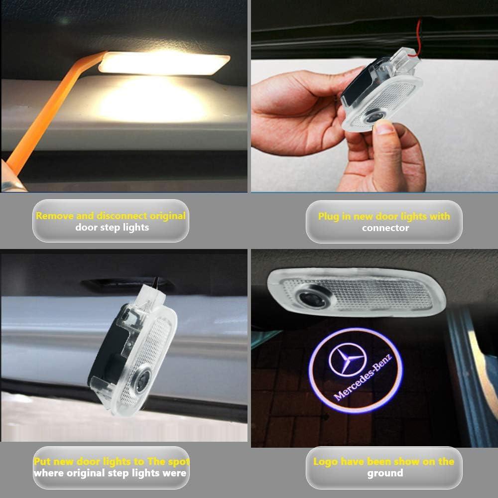 Car Door LED Logo Projector Light Ghost Shadow Welcome Lights Symbol Emblem Courtesy Step Lights Ground Lamp Kit For Audi-n