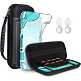 GeeRic Kit de Accesorios Compatible para Nintendo Switch Lite 4 en 1 con Funda Compatible para Switch Lite, Carcasa…