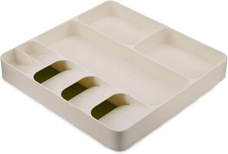 Joseph Joseph 85128 DrawerStore Kitchen Drawer Organizer Tray for Cutlery Utensil and Gadgets, White