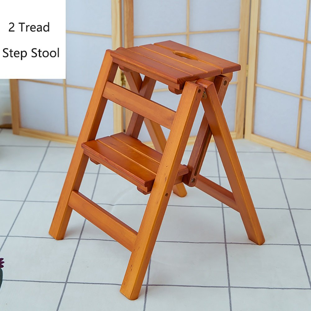 Amazon.com: Wooden Folding Stepladder Wood Folding Step ...