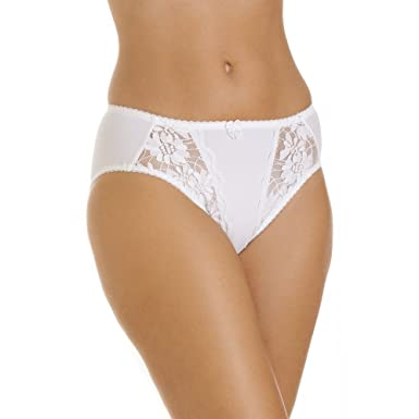 9babbc607764 Camille Womens Ladies White Underwear Briefs Lace Knickers Sizes 10-22:  Amazon.co.uk: Clothing