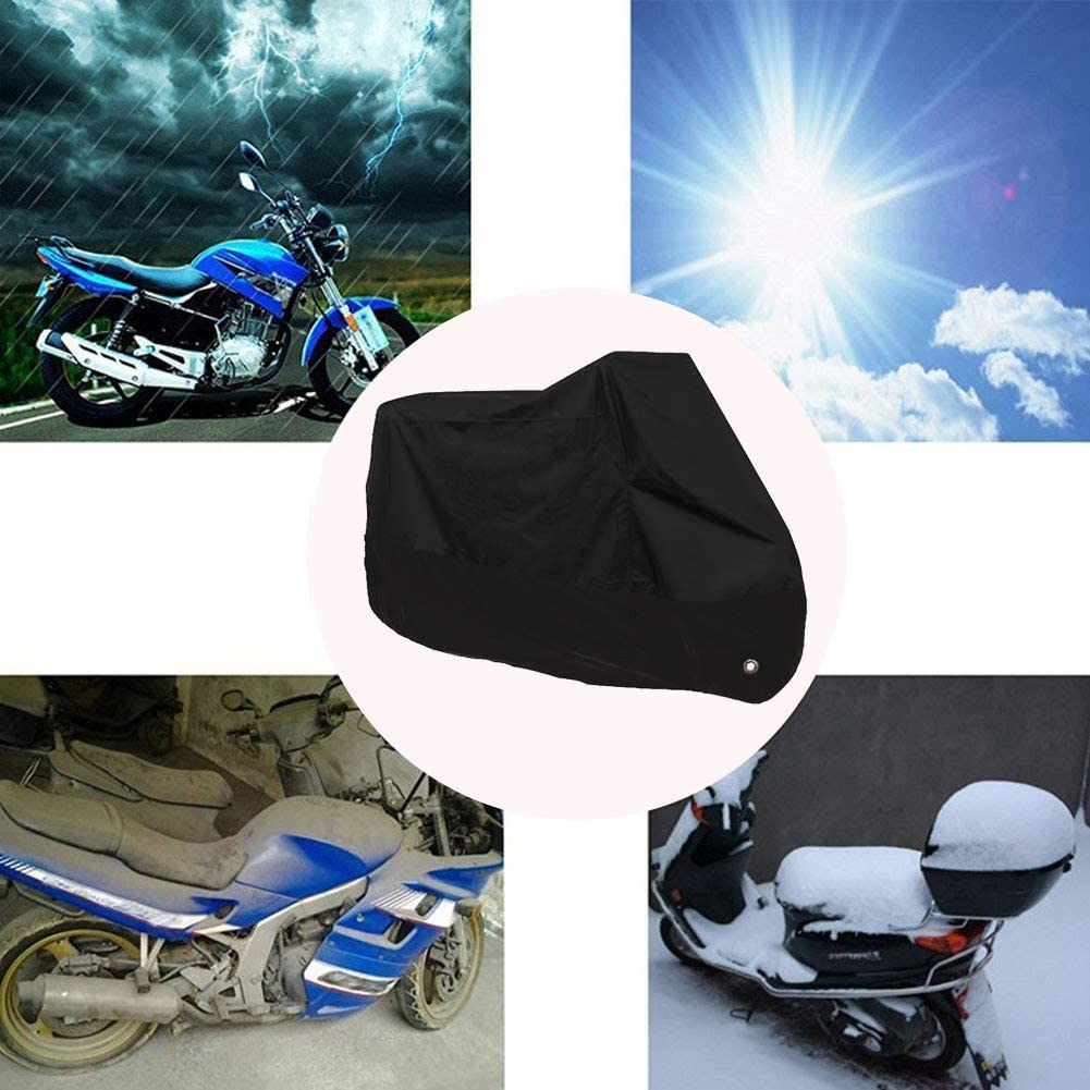 Xigeapg Motorcycle Cover Waterproof Outdoor Rain Dust UV Scooter Motorbike Protector 3XL 104.3X41.3X49.2 Inch