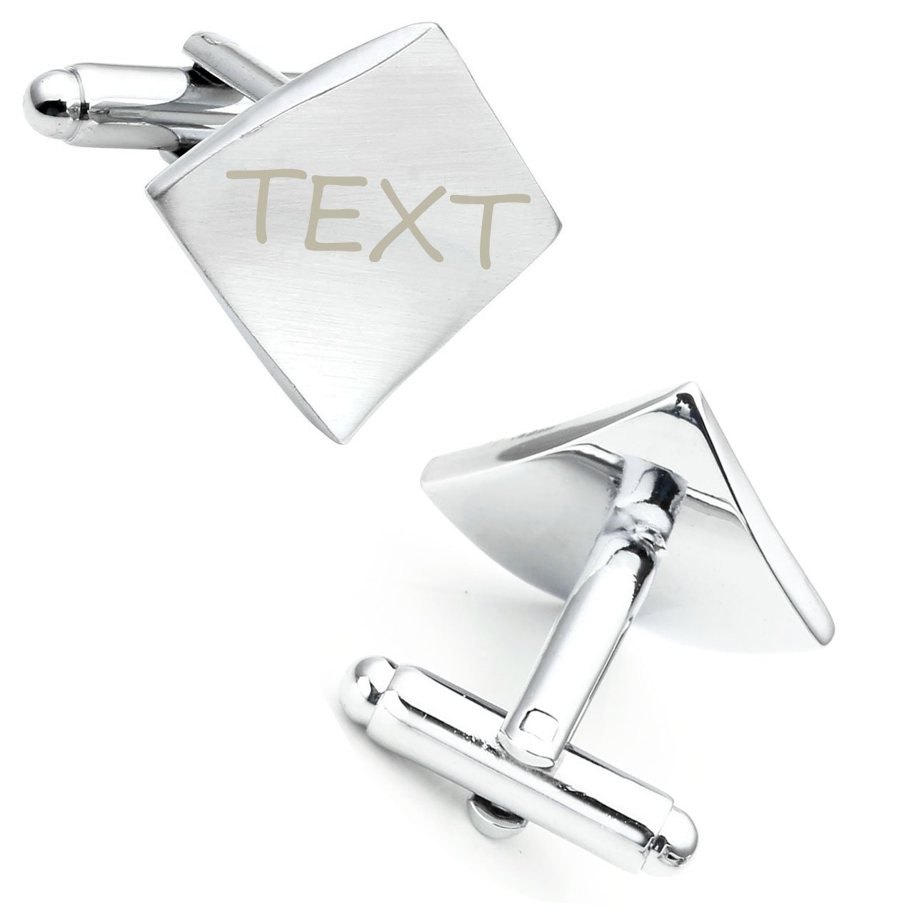 JOVIVI Free Engraving - Personalized Custom Stainless Steel Initial Letter Cufflinks,Fathers Day Wedding Gifts
