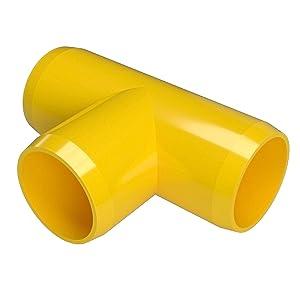 FORMUFIT F034TEE-YE-8 Tee PVC Fitting, Furniture Grade, 3/4