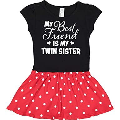Inktastic My Best Friend Is My Twin Sister With Hearts Toddler T-Shirt Family