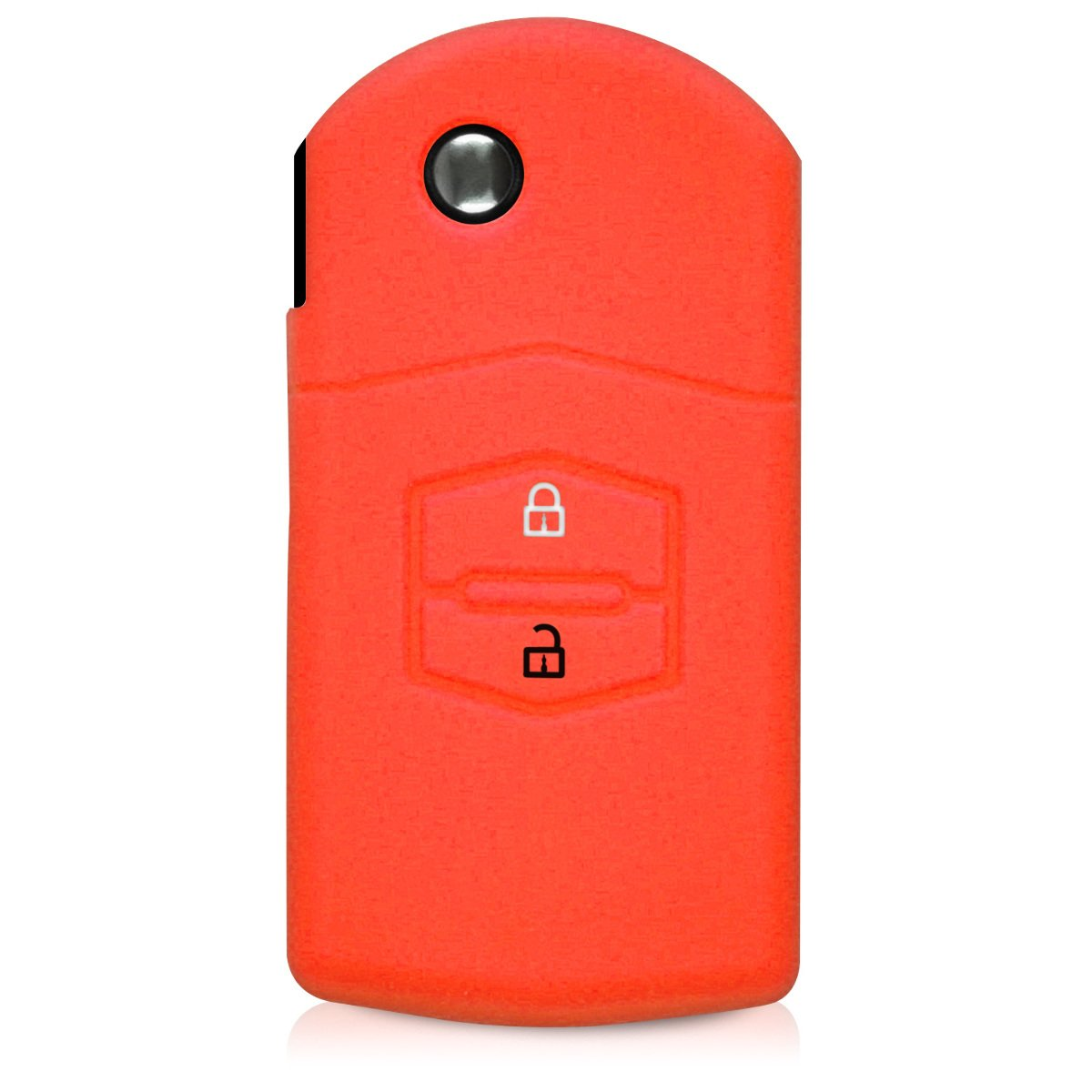 Silicone Protective Key Fob Cover for Mazda 2 Button Car Key Red//Black kwmobile Car Key Cover for Mazda