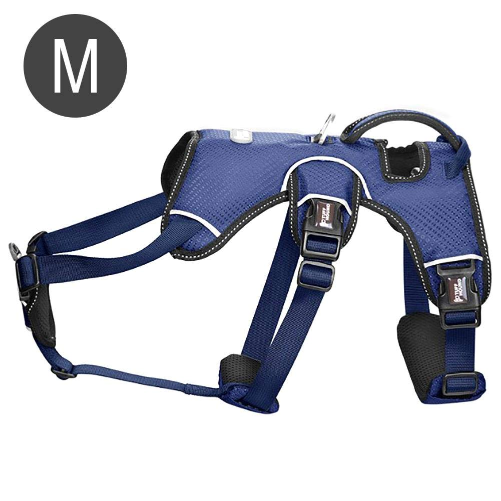 bluee M bluee M Dog Vest Harness Comfort Breathable Dog Body Padded Vest for Training Walking Dogs, No More Pulling
