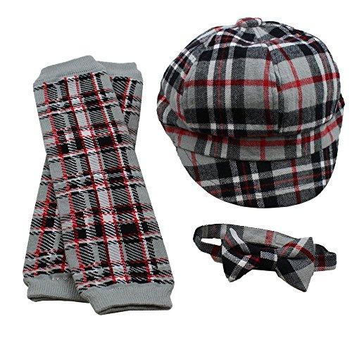 Judanzy Boys Gift Set Everett Plaid Black, Gray, and Red (small)