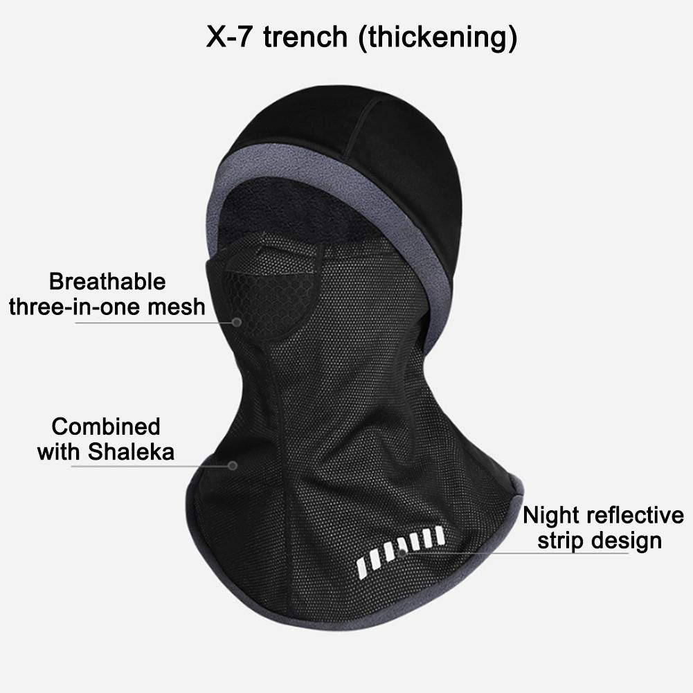 Haifly Winter Sports Multifunctional Tube Headwear Scarf Elastic Neck Warmer for Bicycle Cycling Coffee