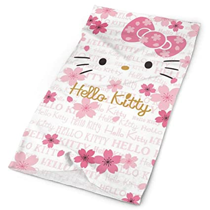 ae9668fc2 Image Unavailable. Image not available for. Color: LBZBBTJ Women's Head  Scarf Cotton Underscarf Cover Headwrap Bonnet Hello Kitty ...