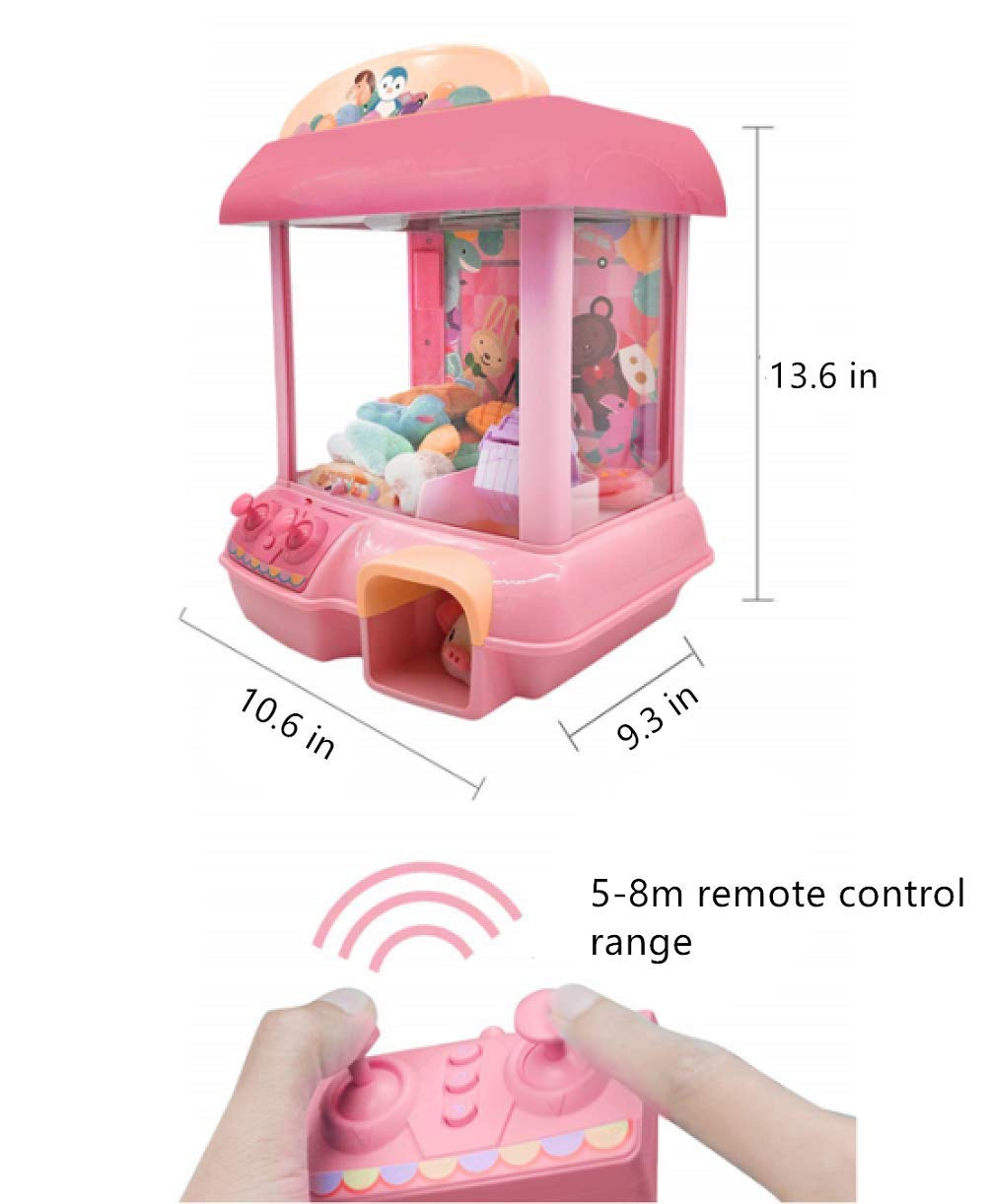 ForBEST Claw Machine Doll Machine with Removable Remote Control, USB Cable, 6 Dolls, Adjustable Sounds and Lights, Best Gift Toy for Kids (Pink) by For BEST (Image #6)