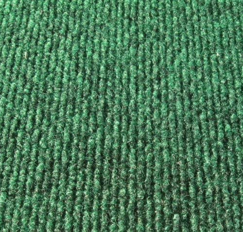 Koeckritz 9 x12 Oval Irish Green Indoor-Outdoor 3 16 Thick Unbound Area Rug with Light Weight Latex Backing