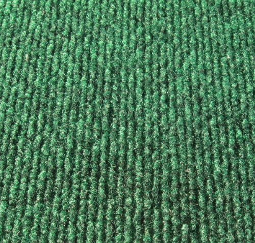 Koeckritz 5 x8 Oval Irish Green Indoor-Outdoor 3 16 Thick Unbound Area Rug with Light Weight Latex Backing