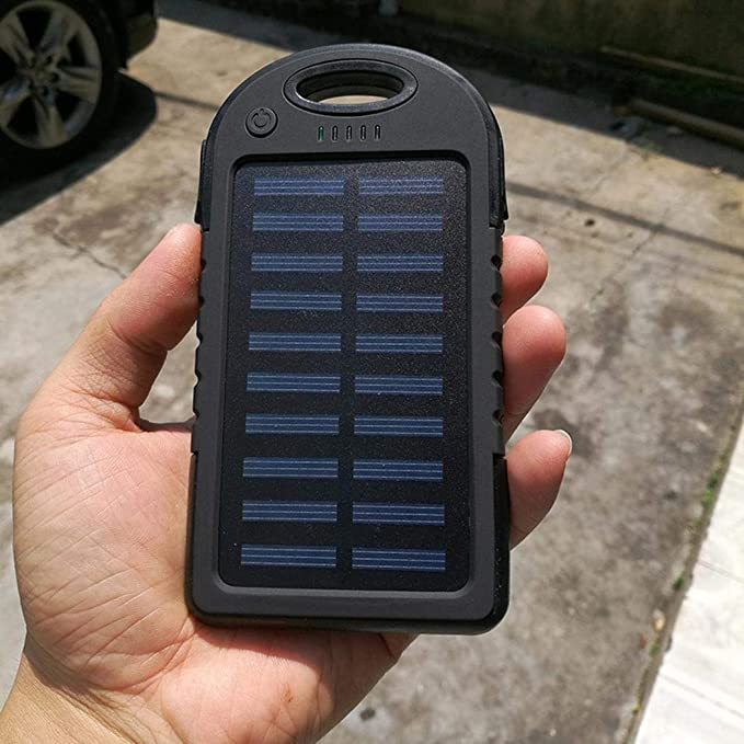 Amazon.com: Comfi1 Universal Portable LED Solar Power Bank Dual USB Solar Charger Phone Accessories (3000mAh, Yellow): Home Audio & Theater