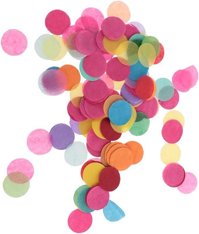 Ceqiny Confettis ronds en aluminium 25 mm pour confettis de table multicolores Id/éal pour r/év/éler le genre Ballon de f/ête pr/énatale Anniversaire Vacances D/écoration Fournitures 40 g