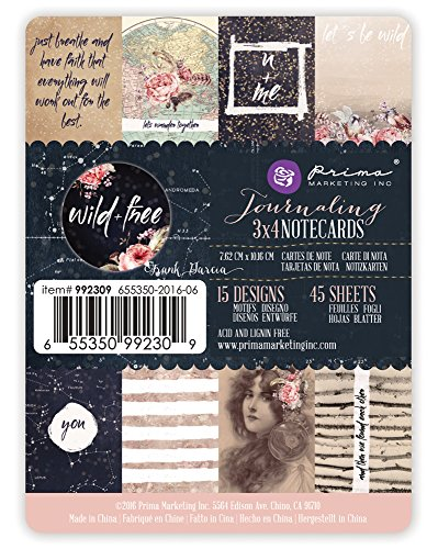 - Prima Marketing 3x4 journaling Cards-Wild & Free Art