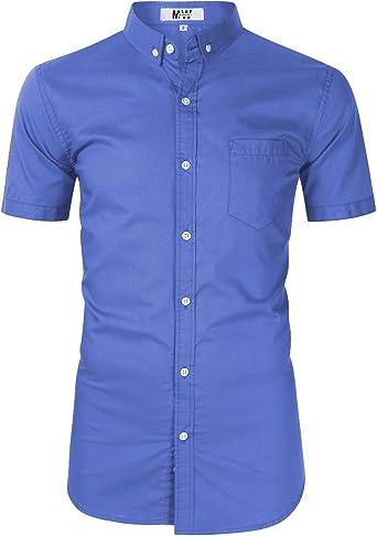 Camisa Oxford de manga larga para hombre, corte regular, para hombre - - XX-Large: Amazon.es: Ropa y accesorios