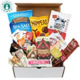 Healthy Vegan Snacks Care Package: Natural, Organic, Non-GMO, Vegan Cookies, Protein Bars, Fruit Snacks, Vegan Jerky, Chips, Nuts, Premium Assortment Vegan Gift Box
