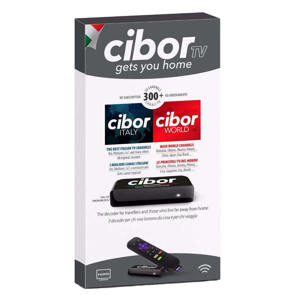 Cibor-I Italian TV Live Stream Decoder Box - Watch Over 150 National &  Regional Channels from Italy Now!