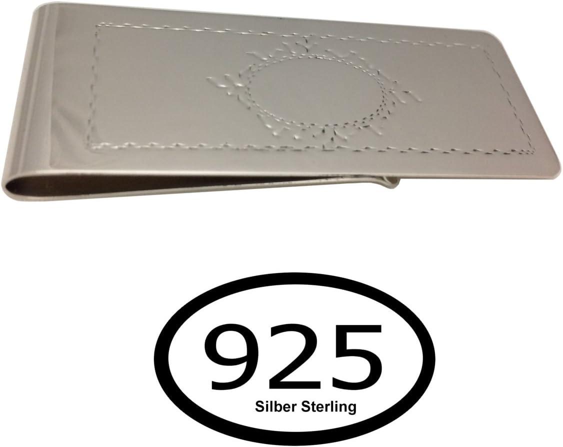 Geldclips Geldklammer Motive 7x2,5 cm Silber 925 Sterling in Premium Vearbeitung