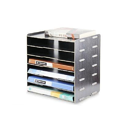 File Cabinets Uomun - Archivadores de Madera Estilo Coreano para Escritorio, 6 Capas, Tamaño