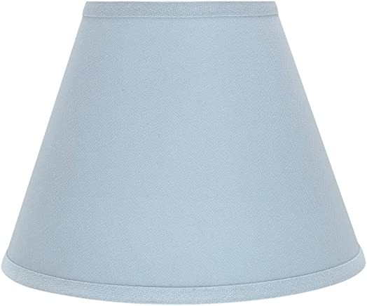 Aspen Creative 32196 Transitional Hardback Empire Shaped Spider Construction Lamp Shade in Light Blue, 12 Wide 6 x 12 x 9