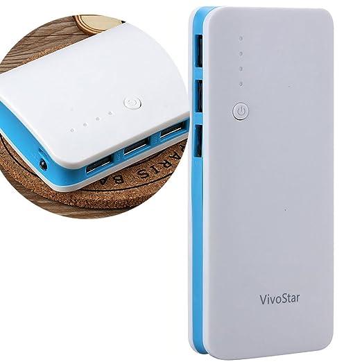 24 opinioni per Caricabatterie Portatile 12000mAh, VivoStar Batteria Esterna con 3 Porte USB,
