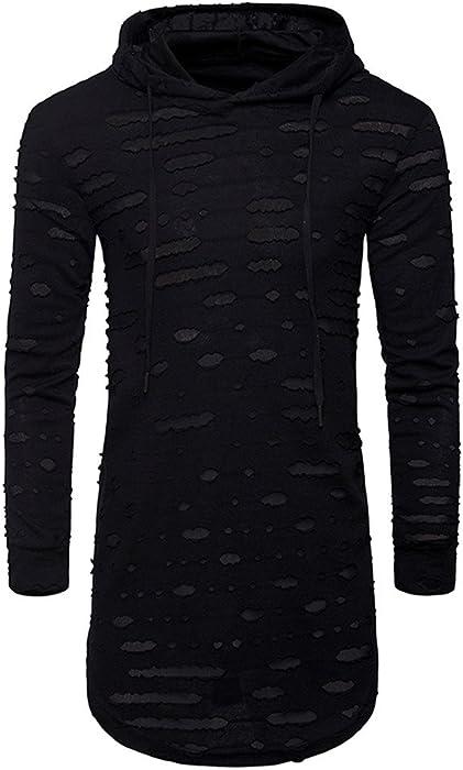 78ed2c22a78a6a Herren Strickjacke FORH Cardigan Grobstrick Feinstrick Mens Hooded Solid  Knit Trenchcoat Jacke Strickjacke Langarm Outwear Bluse