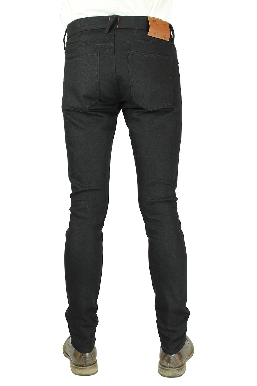 HIROSHI KATO Jeans Men's The Needle Skinny Raw Black 10.5 Oz 4-Way Stretch Selvedge Denim Skinny Fits Made In USA Raw Black 36 by HIROSHI KATO (Image #2)