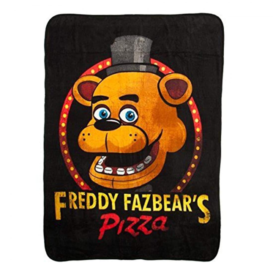 [バイオワールド]Bioworld Five Nights at Freddy Fazbear's Pizza Fleece Throw Blanket, 48 x 60 190371059759 [並行輸入品] B01EM6DDWY