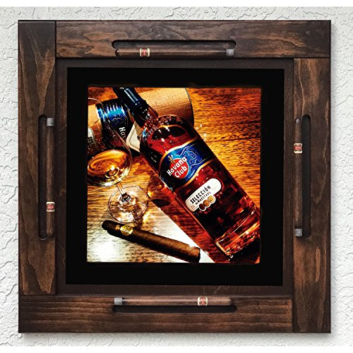 Wooden/wood domino table top-Habana/Havana Club Rum Cuba-Custon Made